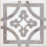 STG/A406/1266 Вставка Амальфи орнамент коричневый 9,9х9,9х7