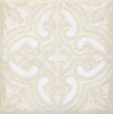 STG/B408/1266 Вставка Амальфи орнамент белый 9,9х9,9х7