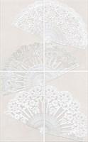 HGD/A204/4x/6322 Панно Мерлетто Кружево, 4 части 25х40 (размер каждой части) 50х80х8