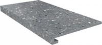 SG632800R/GCF Ступень клееная Терраццо серый темный 33х60х11