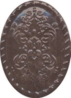 OBA010 Декор Версаль коричневый 12х16х10