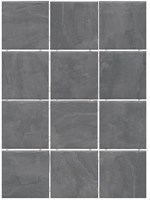 1300 Дегре  серый темный, полотно 30х40 из 12 частей 9,9х9,9 9,9х9,9х7