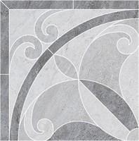 ID98 Декор Монтаньоне наборный 1/4 розона 40,2х40,2х8
