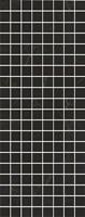 MM7204 Декор Алькала черный мозаичный 20х50