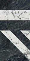 SG565402R Бьянко Неро белый чёрный лаппатированный 60x119,5x11