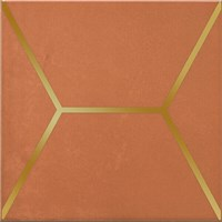 OP/D181/17066 Декор Витраж оранжевый 15x15x6,9